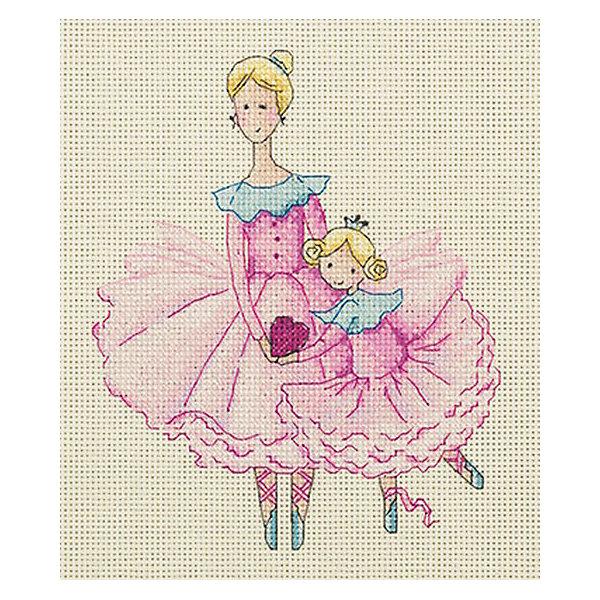 Klart Набор для вышивания мулине Klart Мама и дочка, 17х19 см канва с рисунком для вышивания бисером hobby