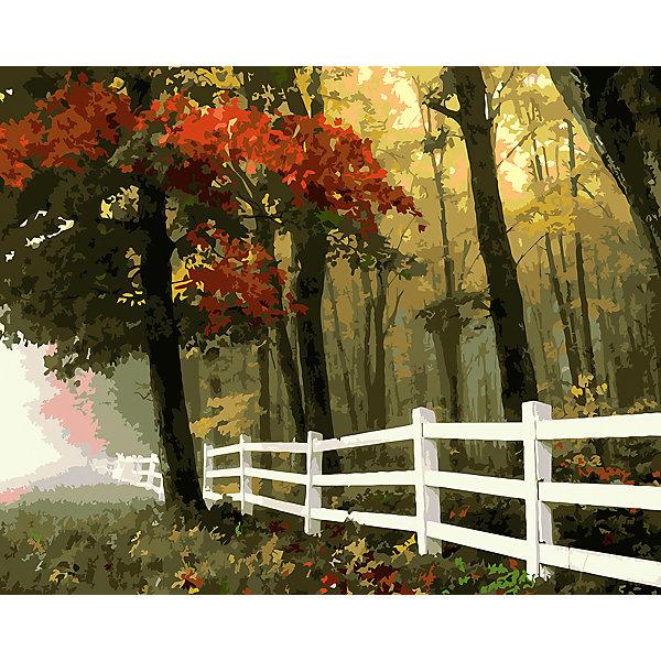 Фрея Картина по номерам на холсте Фрея Осенний лес, 50х40 см