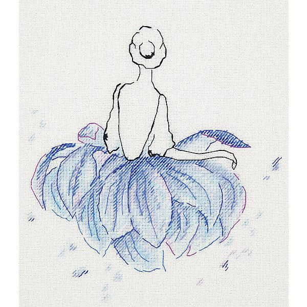 Panna Набор для вышивания Panna Бэкстич Балерина. Лотос, 20х20 см набор для вышивания рс студия пейзаж 17 см х 13 см 835