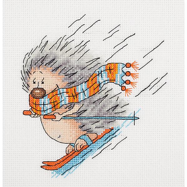 Klart Набор для вышивания мулине Klart Зимний ёжик, 15х17 см цена