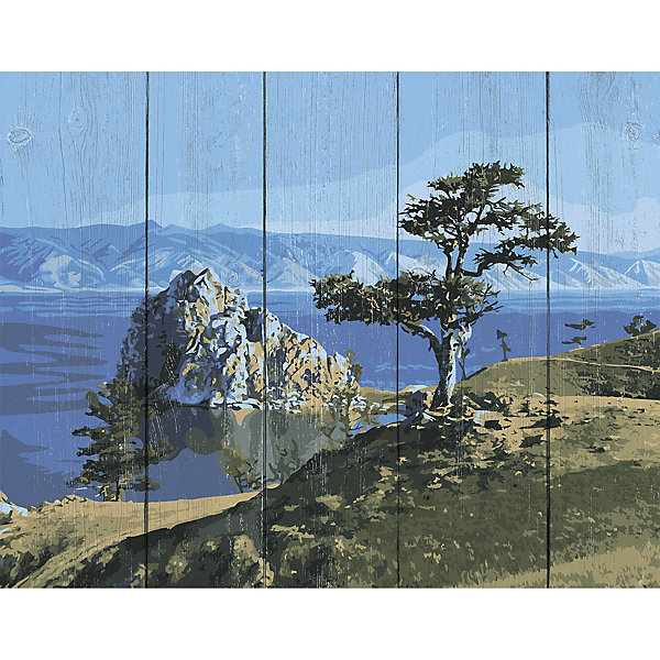 Фрея Картина по номерам на дереве Фрея Байкал, 50х40 см фрея картина по номерам на дереве фрея итальянская набережная 50х40 см