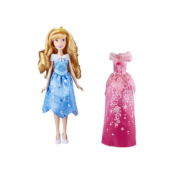Кукла Disney Princess С двумя нарядами Аврора, 29 смИдеи подарков<br>Характеристики товара:<br><br>• возраст: от 3 лет<br>• материал: пластик, текстиль<br>• в комплекте: кукла, 2 наряда, пара обуви, аксессуары<br>• высота куклы: 29 см.<br>• любимый герой: Disney Princess<br>• персонаж: Аврора<br>• руки и ноги подвижны, не сгибаются<br>• кукла не может стоять самостоятельно<br>• упаковка: коробка блистерного типа<br>• вес в упаковке: 220 гр.<br>• размер упаковки: 20,3х6,4х32,7 см<br>• страна бренда: США<br><br>Набор включает в себя принцессу с двумя нарядами в фирменном стиле. Также в комплекте пара обуви и 2 аксессуара. Кукла отлично проработана, руки и ноги двигаются, кукла может сидеть. Выполнена из безопасных материалов.