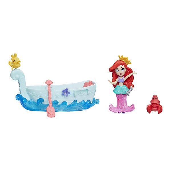 Hasbro Игровой набор с мини-куклой Disney Princess Маленькое королевство Ариэль и лодка hasbro мини кукла disney princess маленькое королевство рапунцель 7 5 см