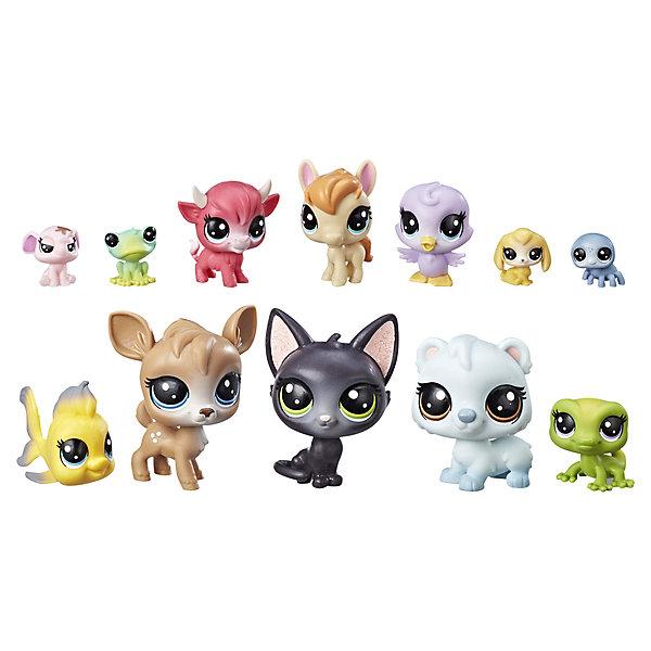 Hasbro Игровой набор Littlest Pet Shop 12 счастливых петов Донат игровой набор hasbro littlest pet shop игровой набор большая семейка