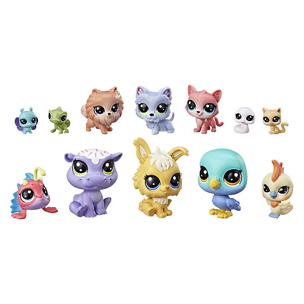 Hasbro Игровой набор Littlest Pet Shop 12 счастливых петов Капкейк игровой набор hasbro littlest pet shop игровой набор большая семейка