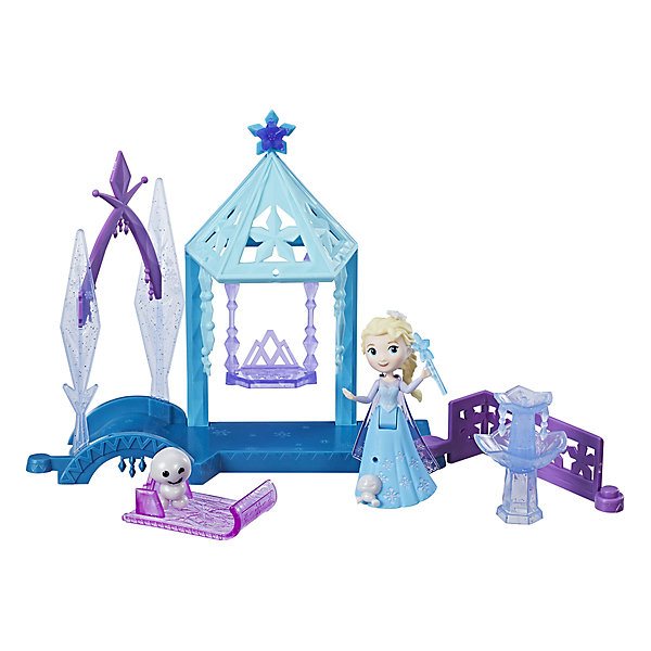 """Hasbro Игровой набор с мини-куклой Disney Princess Холодное сердце """"Королевские спальни"""" Эльза с домиком"""