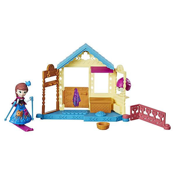 Hasbro Игровой набор с мини-куклой Disney Princess Холодное сердце Королевские спальни Анна со спа салоном