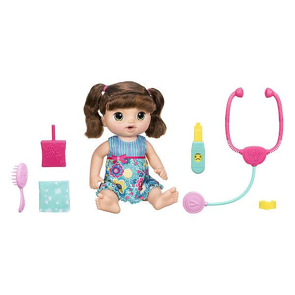 Hasbro Интерактивная кукла Baby Alive Малышка у врача Шатенка