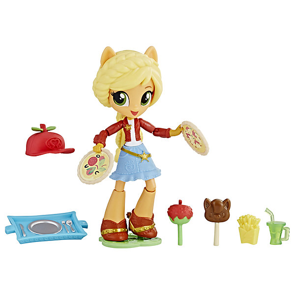 Hasbro Мини-кукла Equestria Girls Эплджек с аксессуарами hasbro игровой набор с мини куклой equestria girls пижамная вечеринка пляжный спорт рэйнбоу дэш
