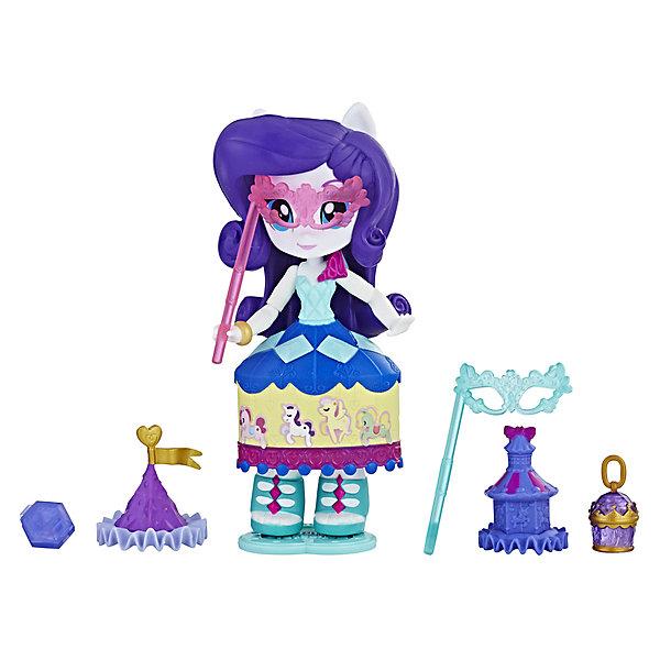 Hasbro Мини-кукла Equestria Girls Рарити с аксессуарами hasbro игровой набор с мини куклой equestria girls пижамная вечеринка пляжный спорт рэйнбоу дэш