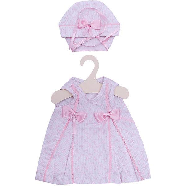 куклы и одежда для кукол asi одежда для кукол 60 см 0000092 Asi Одежда для кукол Asi Платье и чепчик, 45 см