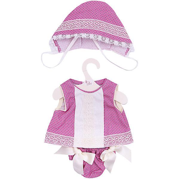 Asi Одежда для кукол Asi Рубашка, трусики и чепчик, 45 см комплект для крещения детский трон плюс рубашка чепчик цвет белый 1403 размер 62 3 месяца