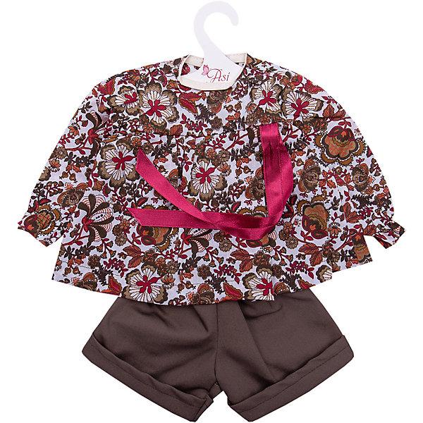 куклы и одежда для кукол asi одежда для кукол 60 см 0000092 Asi Одежда для кукол Asi Рубашка и шорты, 60 см