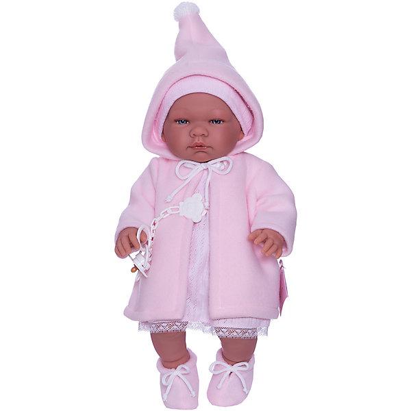 Купить Кукла-пупс Asi Мария в розовой кофте с капюшоном, 43 см, Испания, разноцветный, Женский
