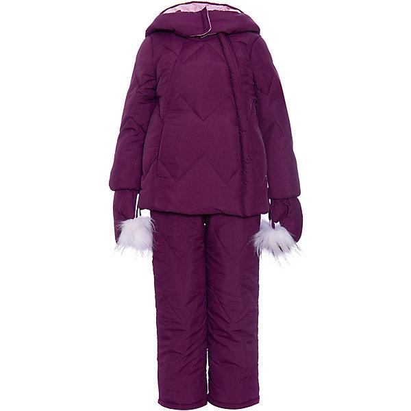 Комплект BOOM by Orby: куртка, брюки, варежкиВерхняя одежда<br>Характеристики товара:<br><br>• брюки до 122 роста идут с подтяжками, от 128 до 170 без подтяжек <br>• комплектация: куртка, брюки, варежки<br>• состав ткани верха: нейлон жатка<br>• подкладка: флис, ПЭ пуходержащий, поликоттон<br>• утеплитель: Flexy Fiber 400 г/м2 200 г/м2<br>• отделка: искусственный мех<br>• сезон: зима<br>• температурный режим: от -25 до -10 С<br>• особенности модели: с капюшоном, функциональность<br>• застежка: молния <br>• страна бренда: Россия<br>• страна-изготовитель: Россия<br><br>Удобный и модный детский комплект состоит из брюк, варежек и куртки. Детская куртка - с декором из помпонов и удобным капюшоном, теплая и стильная. Материал верха комплекта для детей - прочный, подкладка - мягкая и приятная на ощупь. Куртка, варежки и брюки для ребенка отлично сочетаются между собой. Детская одежда от известного бренда BOOM by Orby поможет ребенку одеться тепло и модно.