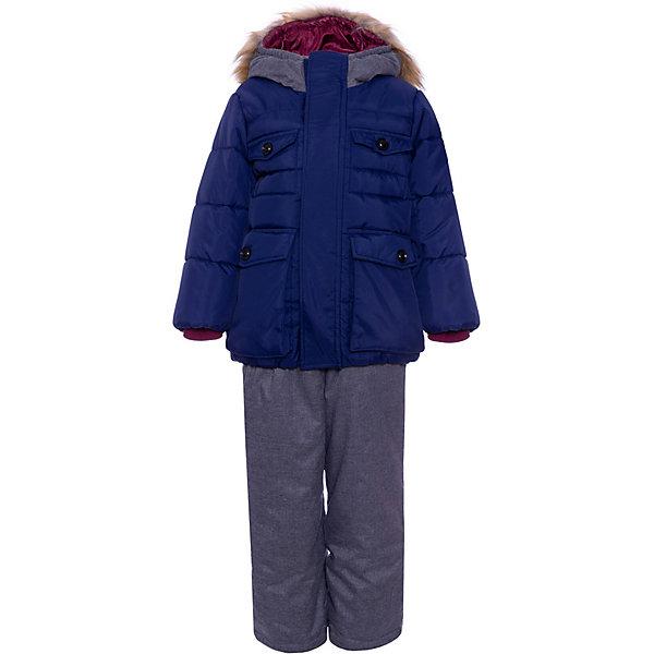 Комплект BOOM by Orby для мальчикаВерхняя одежда<br>Характеристики товара:<br><br>• брюки до 122 роста идут с подтяжками, от 128 до 170 без подтяжек <br>• комплектация: куртка, брюки<br>• состав ткани верха: таффета pu milky<br>• подкладка: флис, ПЭ пуходержащий, поликоттон<br>• утеплитель: FiberSoft 400 г/м2 200 г/м2<br>• отделка: искусственный мех - енот<br>• сезон: зима<br>• температурный режим: от -25 до -10 С<br>• особенности модели: с капюшоном, функциональность<br>• застежка: молния <br>• страна бренда: Россия<br>• страна-изготовитель: Россия<br><br>Теплый детский комплект включает в себя куртку и брюки. Материал комплекта для детей отличается прочностью, наполнитель помогает создать комфортные условия в мороз. Такой комплект для ребенка дополнен удобными вместительными карманами на кнопках. Детская одежда от популярного бренда BOOM by Orby создается с учетом потребностей ребенка, она модно выглядит и удобно сидит.