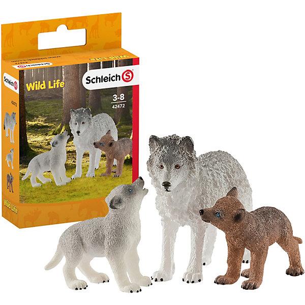 Schleich Игровой набор Schleich Волчица с волчатами набор игровой schleich schleich mp002xc006bl