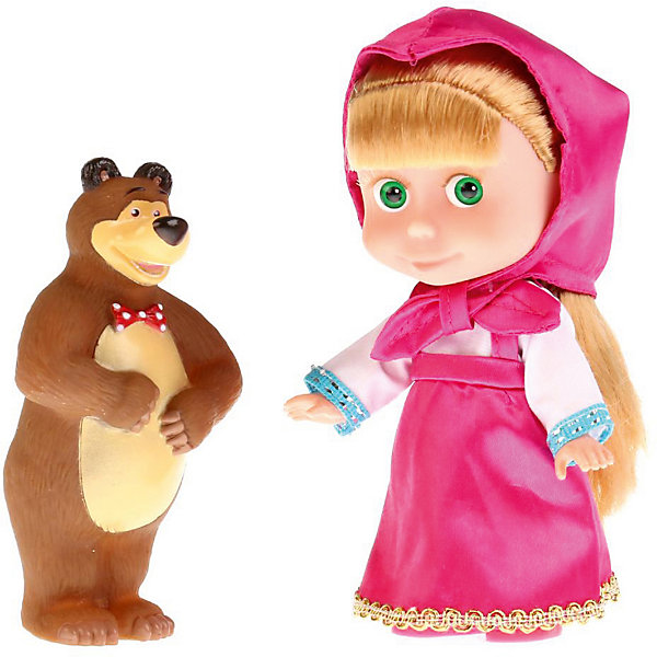 Фото - Карапуз Кукла Карапуз Маша и Медведь Маша с мишкой, озвученная, 15 см кукла карапуз маша и медведь маша 15 см со звуком 83030x 30