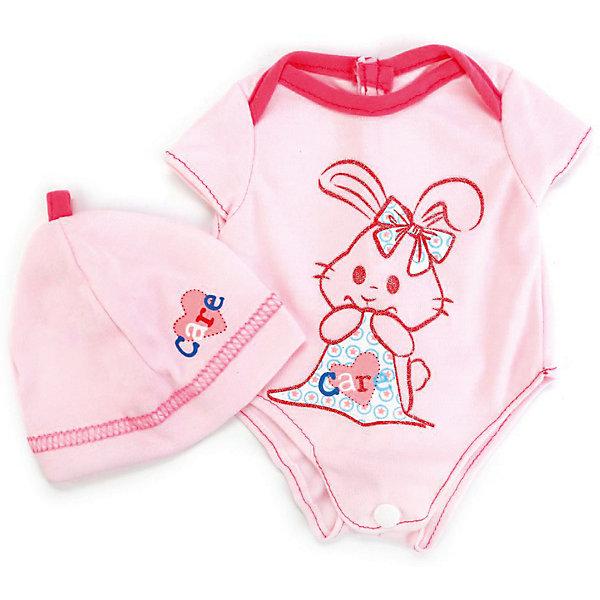 Карапуз Одежда для кукол Карапуз Боди и шапочка, 40-42 см карапуз одежда для куклы карапуз боди 40 42 см розовое