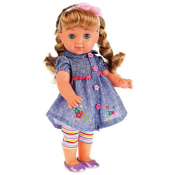 КАРАПУЗ Кукла Карапуз Полина, озвученная, 35 см карапуз кукла рапунцель со светящимся амулетом 37 см со звуком принцессы дисней карапуз
