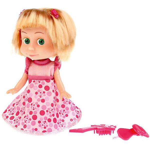 КАРАПУЗ Кукла Карапуз Маша и Медведь Маша в платье, озвученная, 15 см карапуз кукла рапунцель со светящимся амулетом 37 см со звуком принцессы дисней карапуз