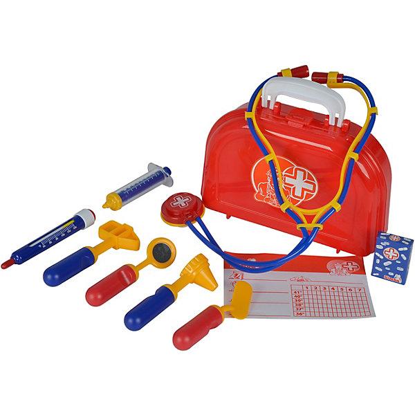 Simba Игровой набор Simba Доктор в чемоданчике, 10 предметов simba simba набор доктора в пластиковом чемодане