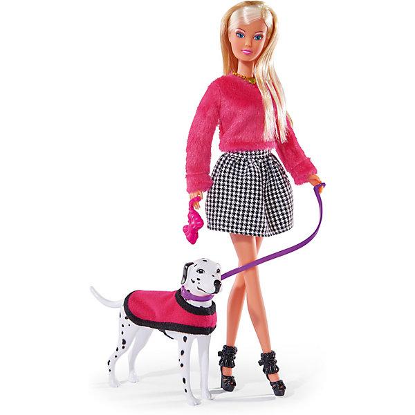 Simba Кукла Simba Steffi Love Штеффи на прогулке с далматинцем, 29 см