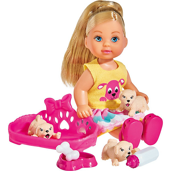 Simba Игровой набор с мини-куклой Simba Evi Love Еви с собачками, 12 см кукла simba evi love school friends еви и тимм 344476 5737113
