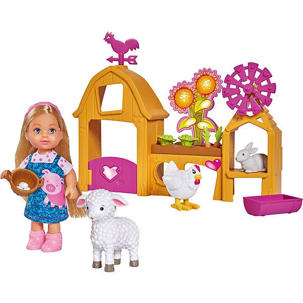 Купить Игровой набор с мини-куклой Simba Evi Love Счастливая ферма Еви, 12 см, Китай, разноцветный, Женский