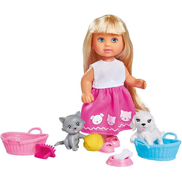 Купить Игровой набор с мини-куклой Simba Evi Love Еви и домашние питомцы, 12 см, Китай, разноцветный, Женский