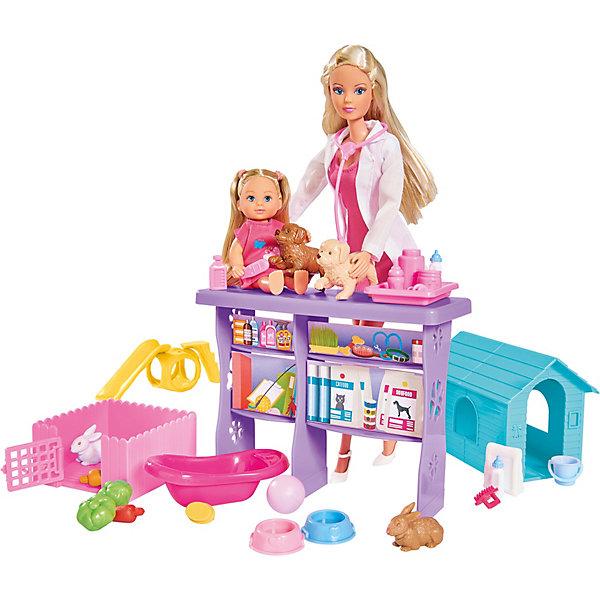 """Simba Игровой набор с куклами Simba """"Steffi Love"""" Мир животных Штеффи и Еви, 35 предметов"""