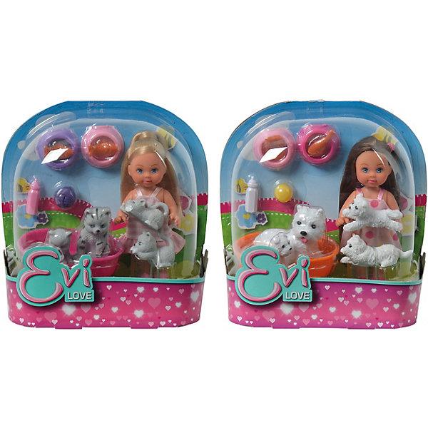 Купить Игровой набор с мини-куклой Simba Evi Love Еви с домашними животными, в ассортименте, Китай, разноцветный, Женский
