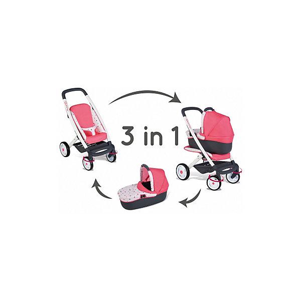 Smoby Коляска-трансформер для куклы Smoby MC&Quinny, 3 в 1 коляска классическая vikalex grata 3 в 1 leather white vi73401
