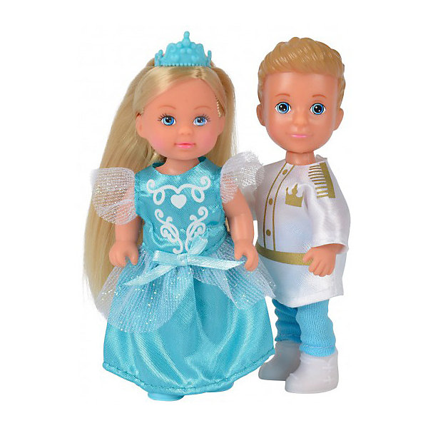 Simba Игровой набор с мини-куклами Simba Evi Love Тимми и Еви - принц и принцесса, 12 см набор кукол simba еви 2 шт с кроваткой 5733847