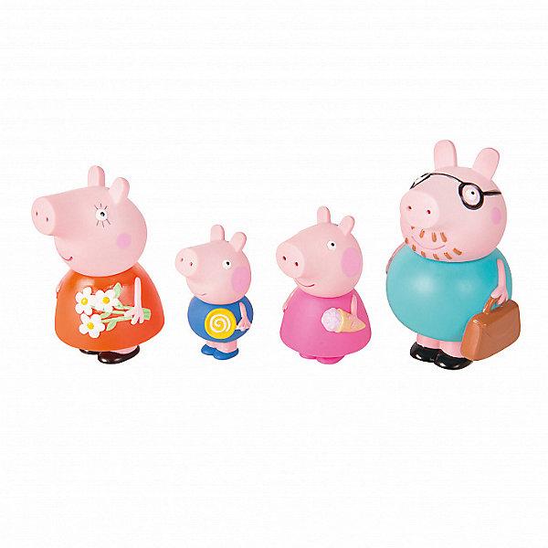 Росмэн Игровой набор для ванны Росмэн Свинка Пеппа Семья Пеппы росмэн мягкая игрушка пеппа с виноградом 20 см свинка пеппа
