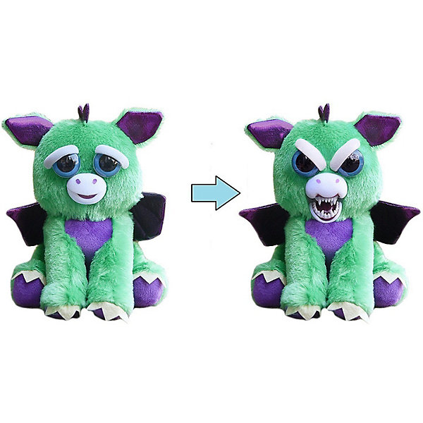Feisty Pets Мягкая игрушка Feisty Pets Дракон с крыльями, , 22 см цена