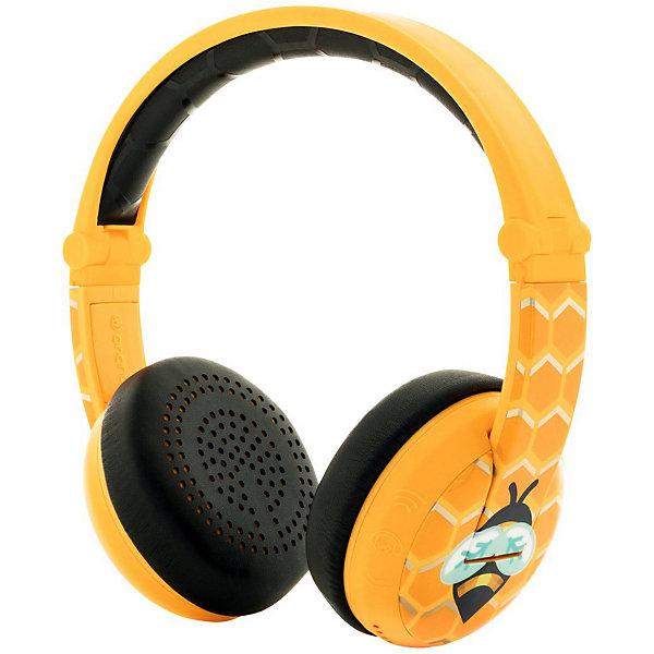 Наушники Buddyphones Wave Yellow, желтыеНаушники, аккумуляторы и колонки<br>Характеристики товара:<br><br>• возраст: от 3 лет<br>• материал: пластик<br>• в комплекте: наушники, аудиосплиттер, дорожный мешочек, инструкция<br>• 3 уровня чувствительности: 75, 85, 94 дБ<br>• диапазон частот: 20-20000 Гц<br>• разъем: mini jack 3.5 mm<br>• длина кабеля: 0,8 м<br>• размер наушников: 17х15 см<br>• размер упаковки: 19,8х18х7,2 см<br>• вес упаковки: 119 гр.<br><br>Наушники Buddyphones Wave Yellow — наушники для прослушивания музыки, разработанные специально для детей. Они водонепроницаемые и оснащенные технологией подключения к устройствам через Bluetooth. В режиме беспроводной связи наушники работают до 20 часов.<br><br>Данная модель имеет 4 уровня прослушивания, включая режим для путешествий TravelMode и уникальный режим StudyMode. Он работает при 94дБ, позволяет добиться наиболее четкого звучания и чаще всего используется в процессе обучения, при прослушивании обучающих материалов, видеороликов и т.д. <br><br>Встроенный микрофон даст возможность не только слушать музыку, но и общаться с близкими или друзьями по видеосвязи. При помощи специального коннектора к одному устройству возможно подключение одновременно до 4 наушников, поэтому дети смогут слушать музыку или смотреть мультфильмы вместе. Коннектор BuddyCable работает даже при разряженной батарее.<br><br>Наушники выполнены из качественных прочных материалов и регулируются по размеру.