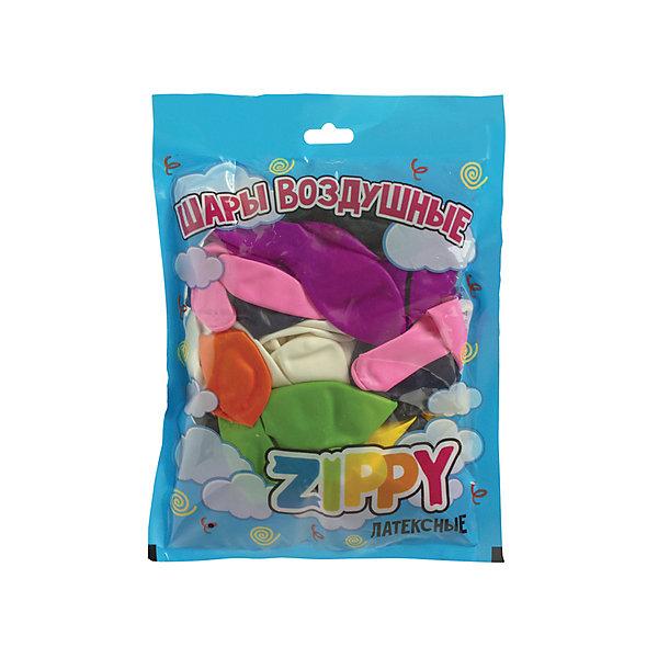 Купить Воздушные шары Zippy 30 см, 10 цветов, 50 шт., Россия, разноцветный, Унисекс