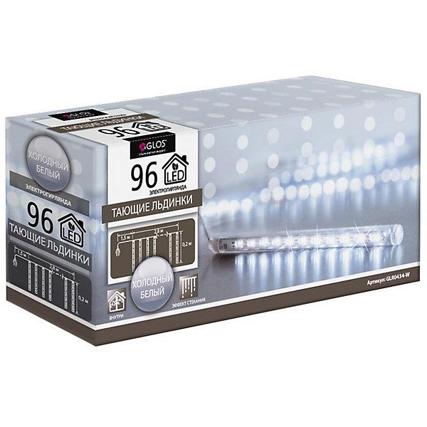 GLOS Электрогирлянда «Тающие льдинки» с эффектом стекания, 2,8 м dr jart focuspot патчи тающие с эффектом лифтинга focuspot патчи тающие с эффектом лифтинга