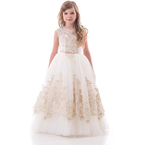 Купить Платье Престиж для девочки, Россия, коричневый, 128, 146, 134, 122, 116, 140, Женский