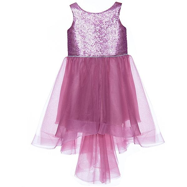 Престиж Платье Престиж для девочки платье без рукавов с кружевной вставкой на спинке