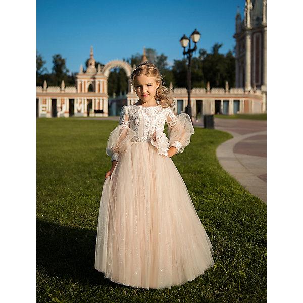 Престиж Платье Престиж для девочки вечернее длинное платье с длинными рукавами