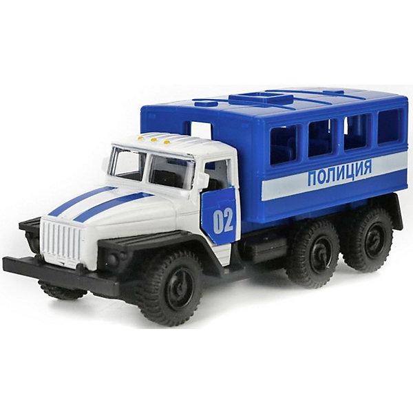 Купить Машинка Технопарк Урал 5557 Полиция, 12 см, ТЕХНОПАРК, Китай, Мужской
