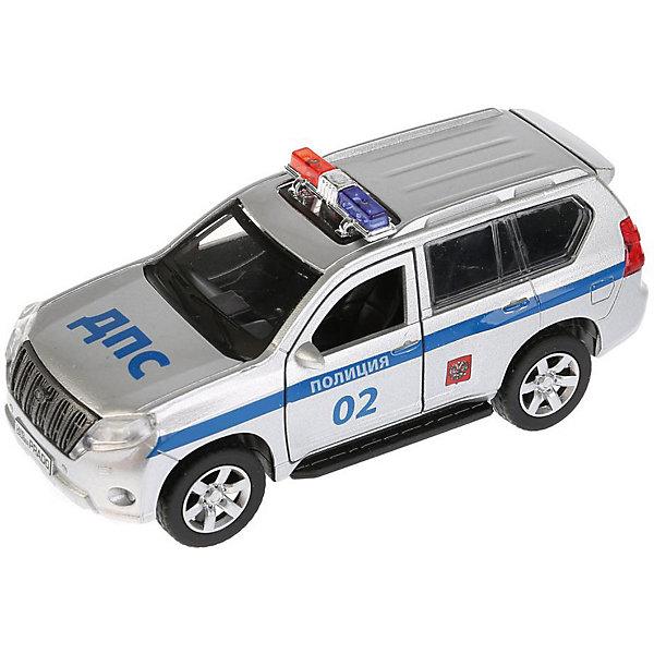ТЕХНОПАРК Машинка Технопарк Toyota Land Cruiser Prado Полиция, 12 см машинки технопарк машина технопарк металлическая инерционная полиция россии