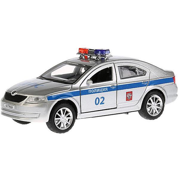 ТЕХНОПАРК Машинка Технопарк Scoda Octavia Полиция, 12 см машинки технопарк машина технопарк металлическая инерционная полиция россии