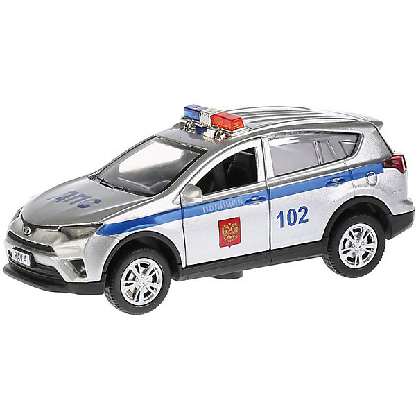 ТЕХНОПАРК Машинка Технопарк Toyota Rav4 Полиция, 12 см машинка технопарк уаз патриот полиция 1 50