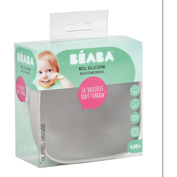 BÉABA Тарелка из силикона Beaba Silicone suction bowl,