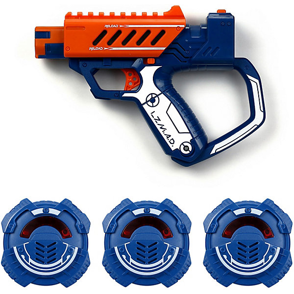 Silverlit Игровой набор Silverlit Тренировочный бластер с мишенью, оранжевый silverlit с бластером 1 бластер 3 мишени