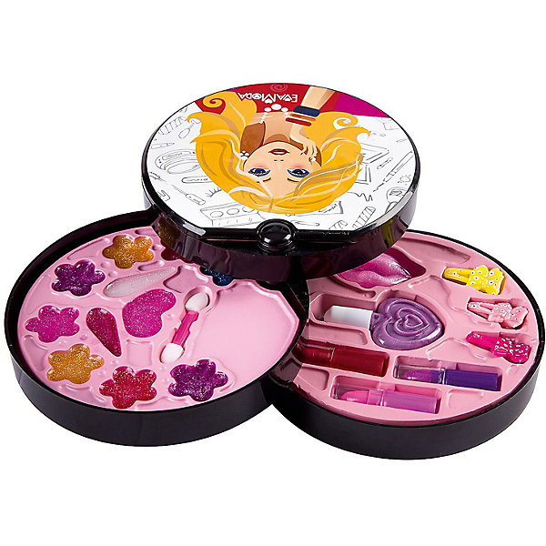 Детская декоративная косметика Bondibon Eva Moda Косметичка-диск, 3-х уровневая