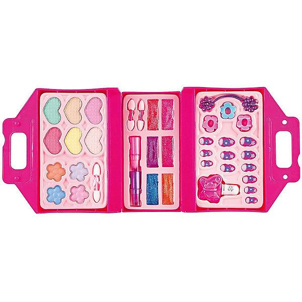 Детская декоративная косметика Bondibon Eva Moda Косметичка-чемодан, раскладная, розовая